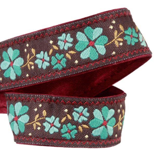 attache-doudou-serviette-fleur-turquoise