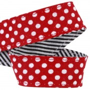 attache tétine pois rouge