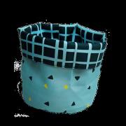 panier réversible Loopita turquoise