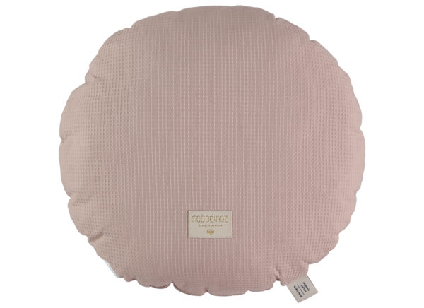 coussin rond misty pink nobodinoz