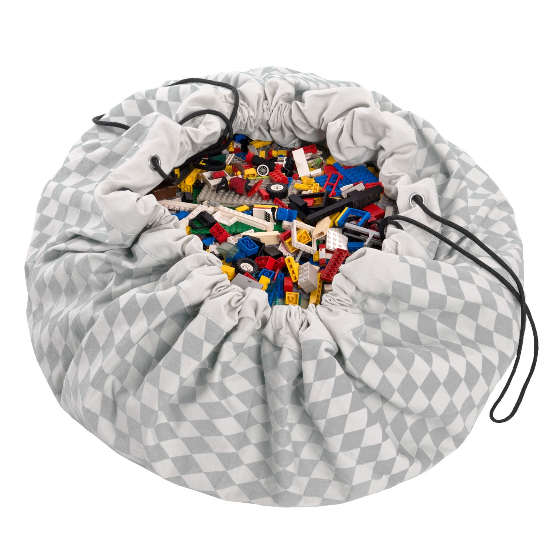 sac à jouet play and go losanges gris