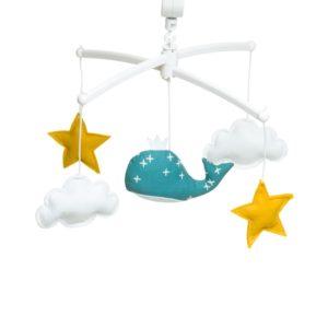 mobile musical bleu canard pouce et lina