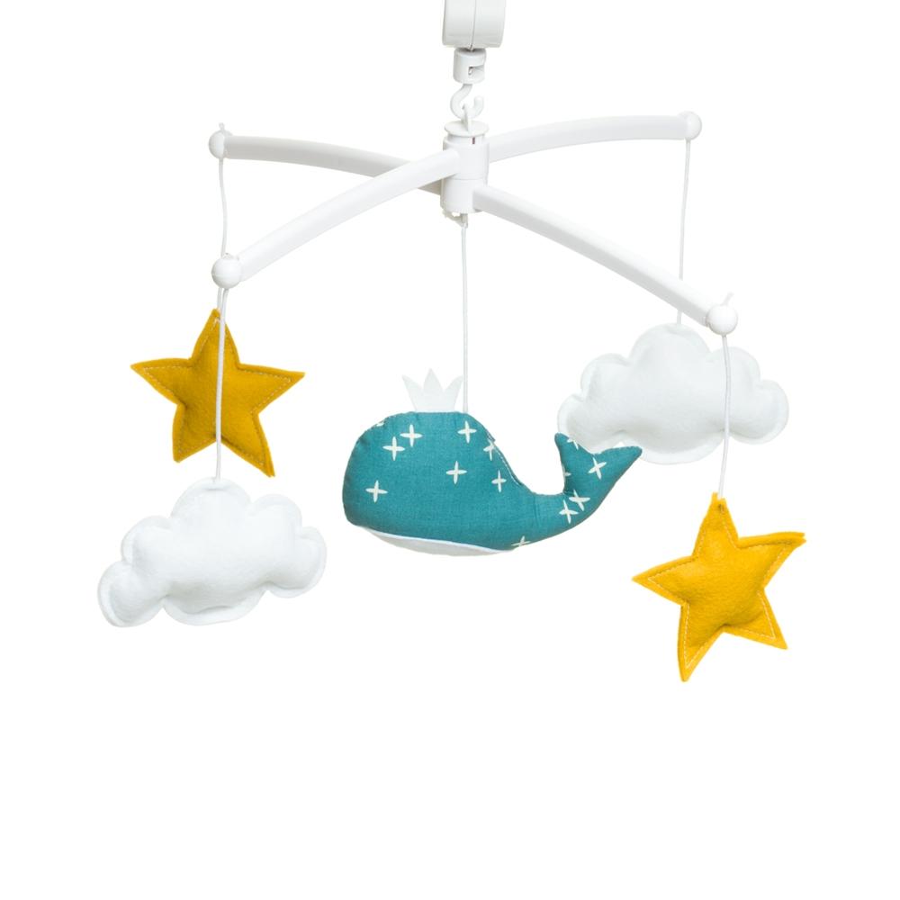 mobile musical bleu canard