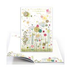 cahier fleurs cartes d'art