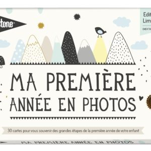 cartes 1ere année over the moon milestone