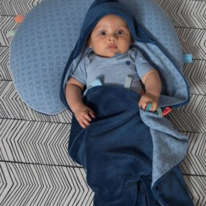 couverture bleu indigo snoozebaby