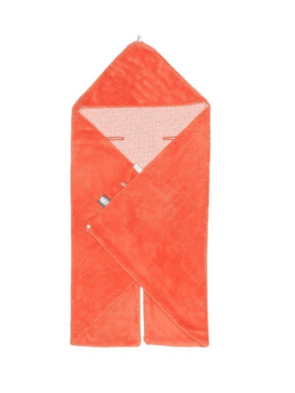 couverture orange corail snoozebaby
