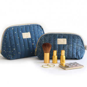 trousse de toilette bubble blue nobodinoz