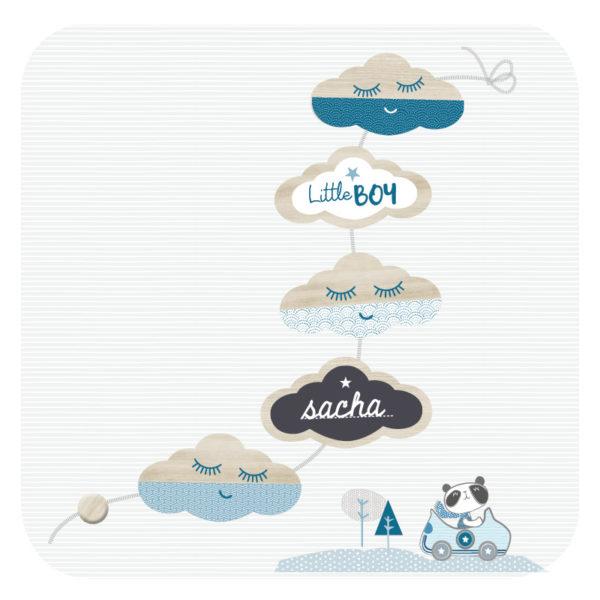 guirlande nuage bleue lovely tribu