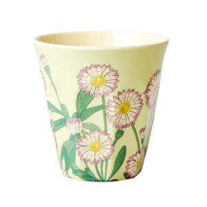 mug melamine fleuri vert rice