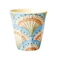 mug melamine fleuri bleu rice