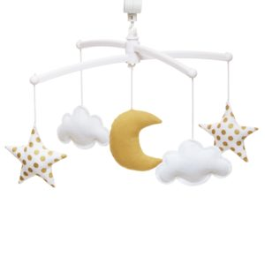 mobile lune or gold pouce et lina
