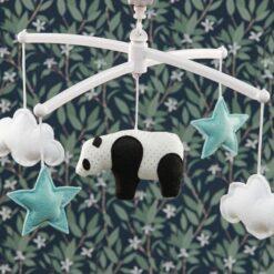 mobile panda bleu pouce et lina