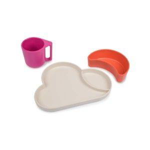 set de vaisselle nuage rose tumtum