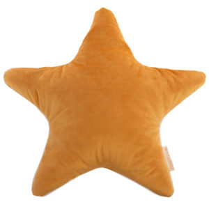 coussin velours star jaune moutarde savanna nobodinoz