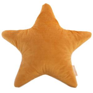 coussin velours star jaune moutarde savanna nobodinoz