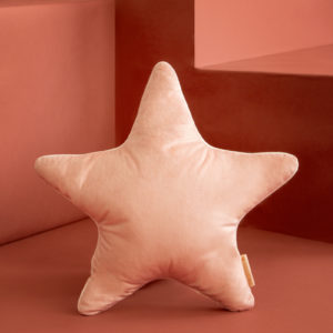 coussin velours star rose savanna nobodinoz