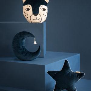 coussin velours star bleu savanna nobodinoz
