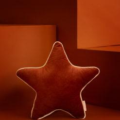 coussin velours star brun savanna nobodinoz