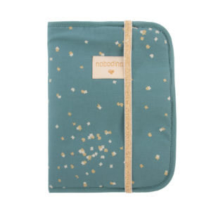 protege carnet de sante gold confetti magic green nobodinoz