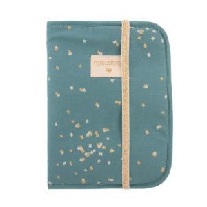 protege carnet de sante gold confetti magic green nobodinoz