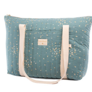sac de maternite gold confetti magic green nobodinoz
