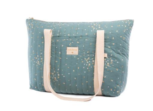 sac de maternite gold confetti magic green nobodinoz