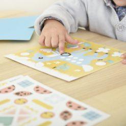 cartes gommettes forêt poppik