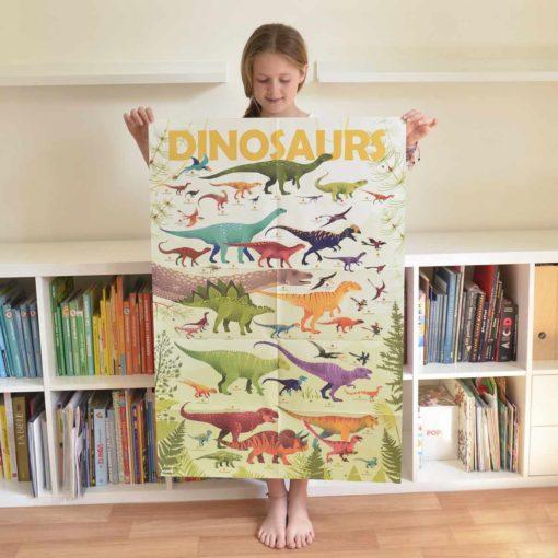poster stickers dinosaures poppik