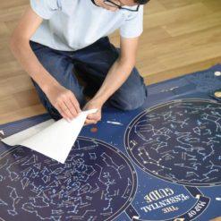 poster stickers carte du ciel poppik
