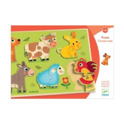 puzzle encastrement coucou cow djeco