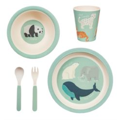 set vaisselle animaux en danger sass and belle