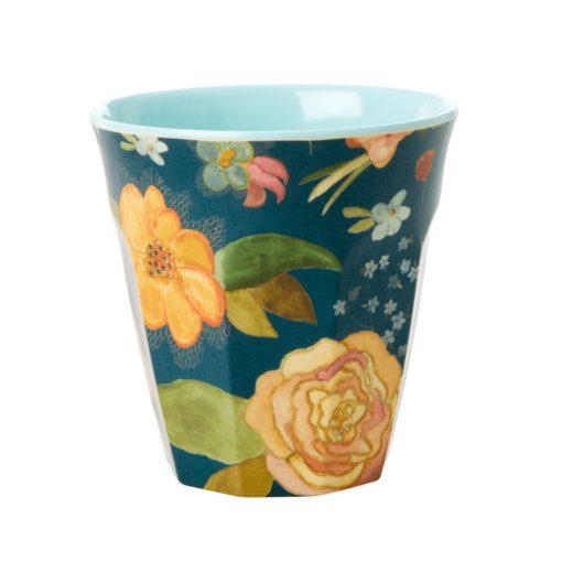 mug fleurs vintage rice