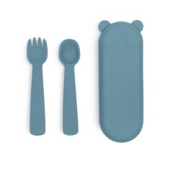 couverts silicone bleu we might be tiny