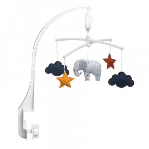 mobile éléphant confettis pouce et lina