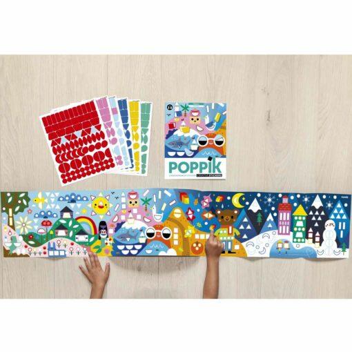 poster gommettes saisons poppik
