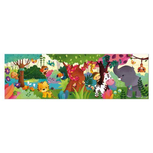 puzzle panoramique jungle janod
