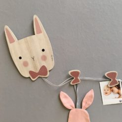lapin porte photos rose lovely tribu