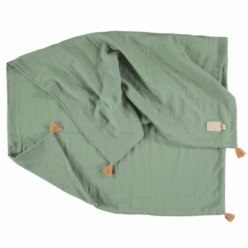 couverture ete toffee sweet dots eden green nobodinoz