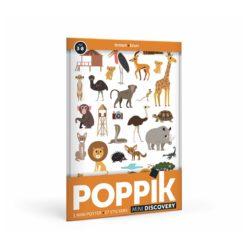 mini poster sticker brun poppik