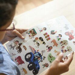 mini poster sticker ferme poppik