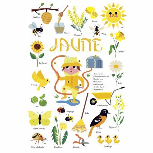 mini poster sticker jaune poppik