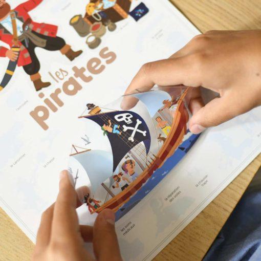 mini poster sticker pirates poppik