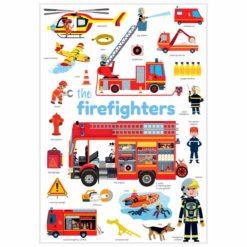 mini poster sticker pompiers poppik