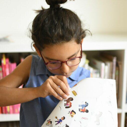 mini poster sticker poneys poppik