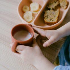mug silicone blush terracotta ekobo
